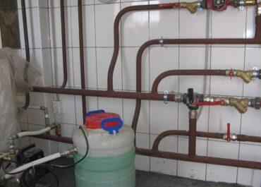 Залив теплоносителя в систему отопления
